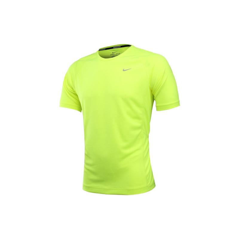 热 耐克nike 2014新款专业跑步服纯色男装短袖t恤运动服519699-415