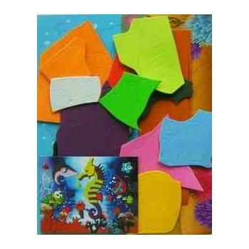 va拼图玩具小狮子-手工纸diy贴画益智早教玩具海绵纸剪纸diy幼儿园