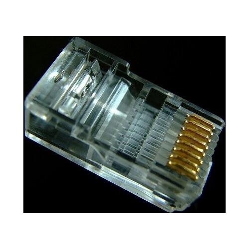 安普钛科超五类高级网络水晶头 (100个/盒),jack镀金弹片