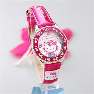 韩国专柜正品hellokitty手表~玫红运动kt猫儿童手表~可爱女孩手表