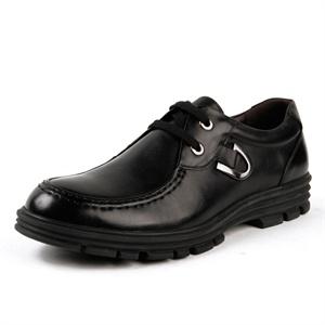 Pubgo千禧步步高男鞋 经典时尚商务休闲鞋 简约系带舒适正装皮鞋M124016