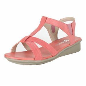 女鞋头层牛皮休闲女鞋低跟坡跟鞋t型带露趾女凉鞋