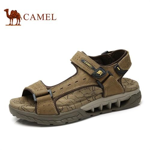 【2014新品】camel 骆驼男鞋凉鞋 时尚休闲男士沙滩鞋新款夏季魔术贴男鞋