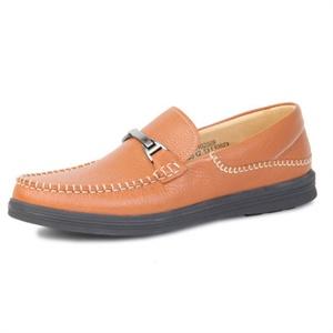 Pubgo男士皮鞋 时尚头层皮按摩经典款驾车鞋 套脚透气休闲鞋M131023
