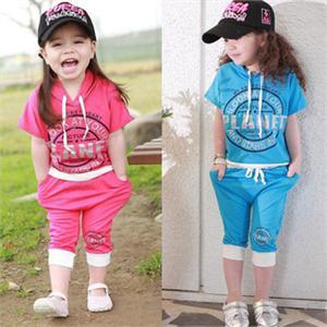 糖果色休闲套装/儿童运动服