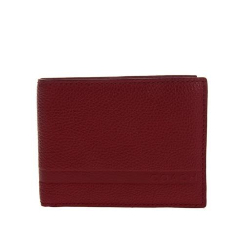 枣红色男士短款纯皮钱包