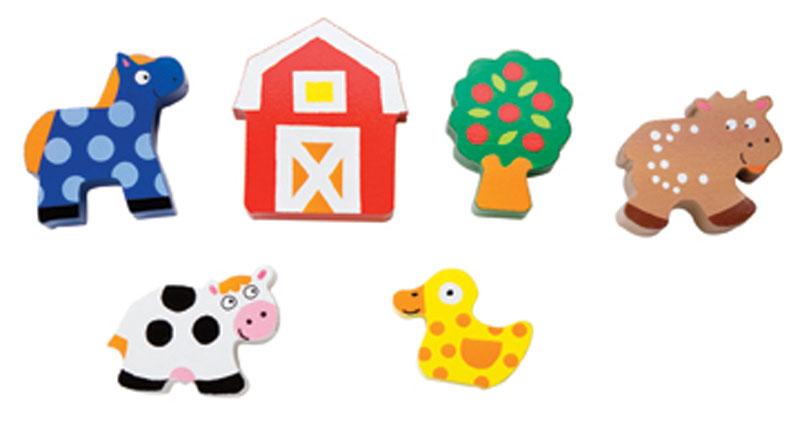 巧之木串珠串绳木制玩具字母数字形状认知玩具 穿绳益智游戏 水果动物