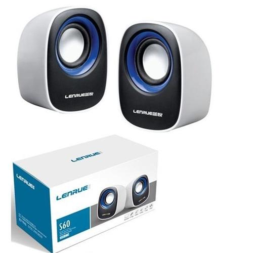 蓝悦s60 usb2.0小音箱 对箱 q蛋造型 颜色随机发货