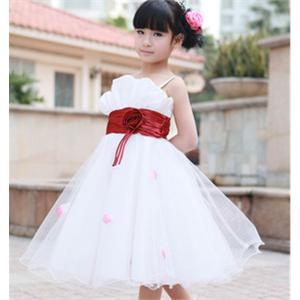 儿童婚纱裙 公主裙