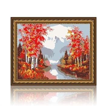 舞动色彩 别样风情 diy数字油画风景彩绘装饰画 w0225