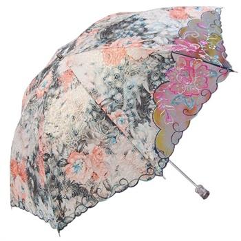 梅花伞二折超强防晒遮阳网纱刺绣伞醉美云南