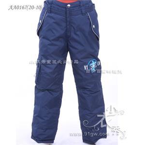 男童外穿加厚羽绒裤 大童 130 150码
