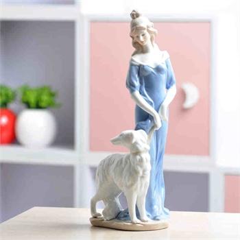 欧式工艺品摆件 陶瓷雕塑西洋女人物摆设