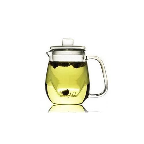 欧式经典 手工玻璃三件式花茶壶过滤内胆玻璃