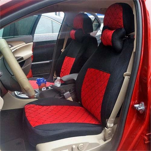 现代 八代索纳塔悦动ix35瑞纳朗动*座套 汽车座椅套 四季通用_中国红