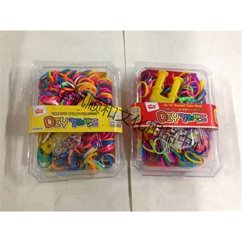 韩国彩虹编织工艺皮筋儿童diy手工制作玩具女孩织造