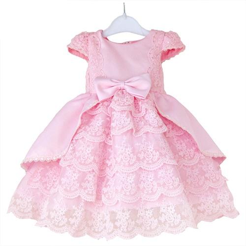 调皮包包 童装女童礼服裙 儿童长袖公主裙连衣裙 花童
