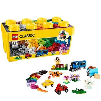 lego/乐高 益智拼装积木玩具经典创意/得宝系列桶装积木颗粒 积木盒