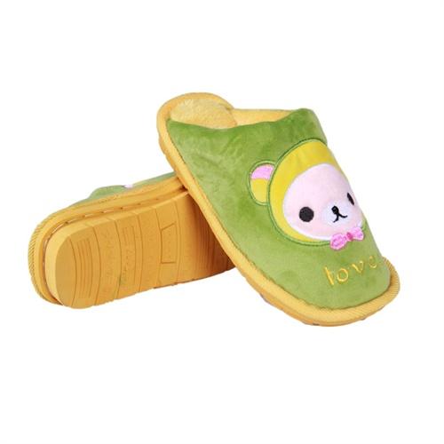 华庭丽娜卡通保暖鞋 小可爱娃娃头像情侣男款女款家居