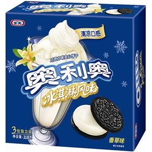 [当当自营]卡夫奥利奥冰淇淋夹心香草口味饼干318g
