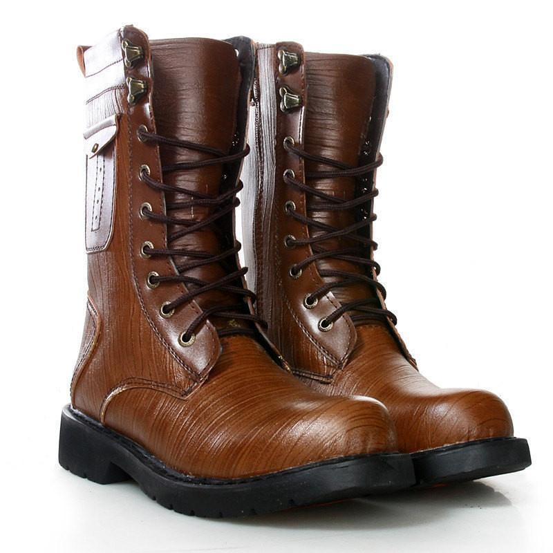 【亚星靴子】2012新款帅哥高筒靴个性pu纹路男靴男鞋
