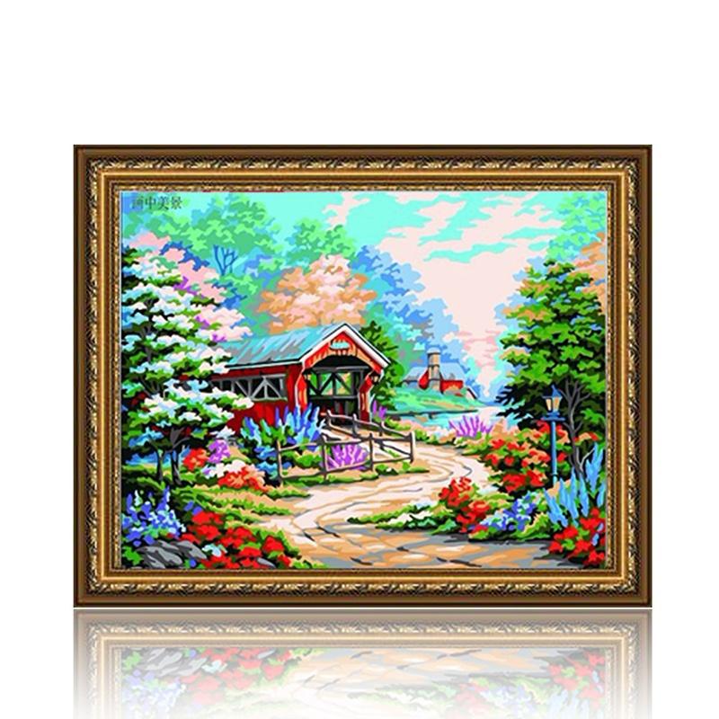 舞动色彩 画中美景 diy数字油画风景彩绘装饰画 w0240