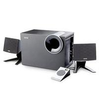 漫步者(EDIFIER) R208PF 带SD/USB/FM加线控的2.1多媒体有源音箱 黑色