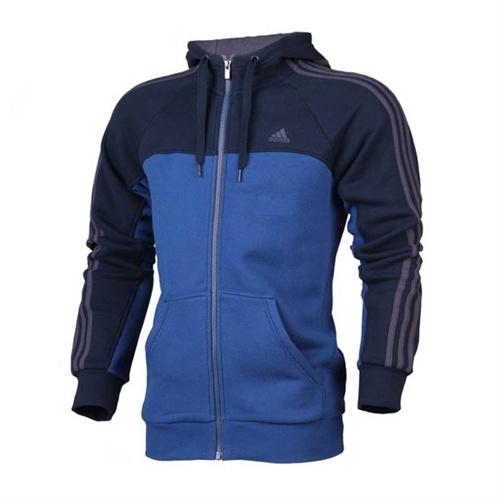 阿迪达斯adidas男子训练运动服正品男装纯棉夹克外套z01104_浅蓝色+深