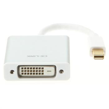 mini dp转dvi转换器 连接线 1080p高清传输 苹果笔记本 一体机 连电视