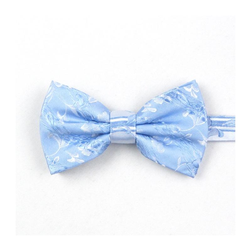 时尚男士领结 浅蓝色经典花纹蝴蝶领结 ifsong 038