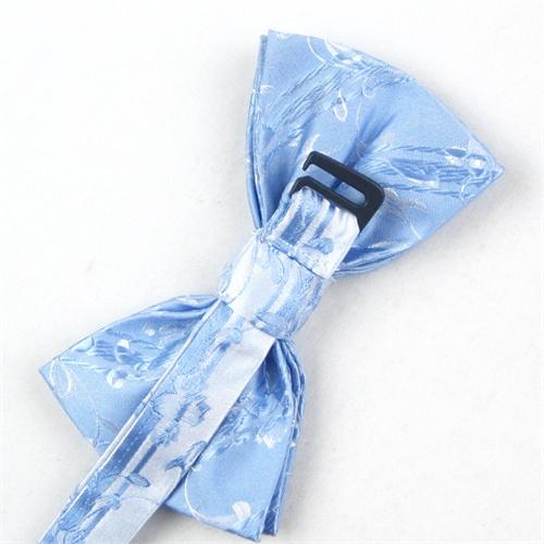 ifsong 男士正装商务韩版高档领结 浅蓝色花纹新郎结婚英伦蝴蝶结