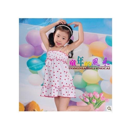 儿童小公主泳装 可爱裙式游泳衣