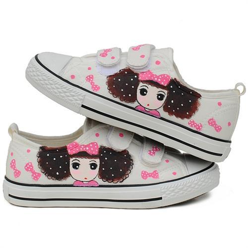 城市公主 超可爱韩国手绘鞋.帆布鞋