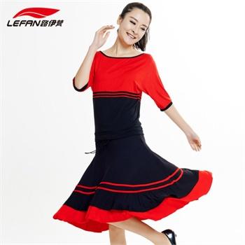 中裙女伦巴舞蹈服