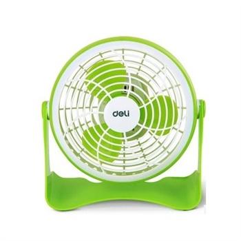 得力3684小风扇usb迷你风扇 电脑电风扇 得力电风扇 节能静音_浅绿色