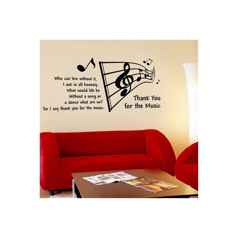 大号音乐符号二 新饰线墙贴 客厅电视背景墙壁贴纸韩国墙纸防水