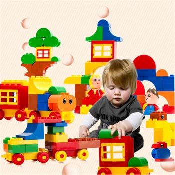 大颗粒大块积木拼装玩具