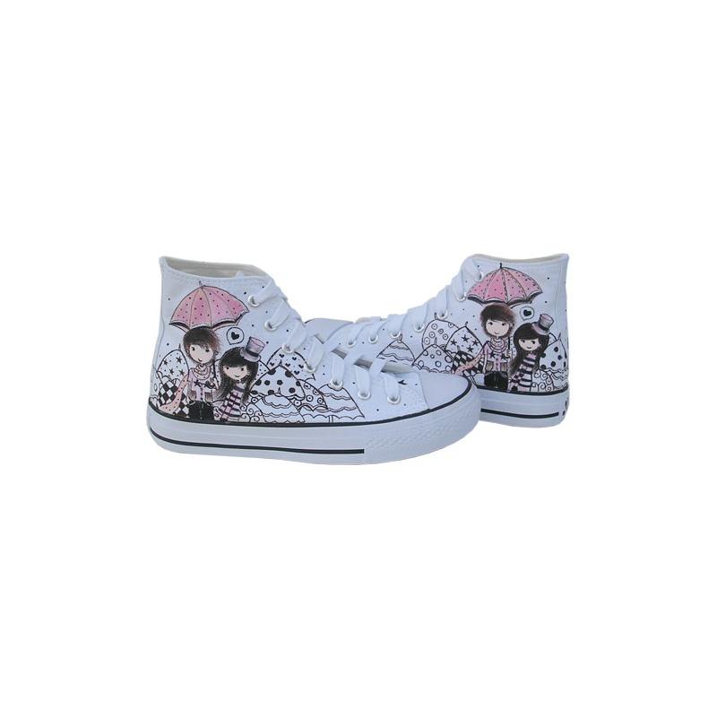 城市公主男女潮款个性手绘鞋 涂鸦帆布鞋女鞋休闲鞋z-b1029