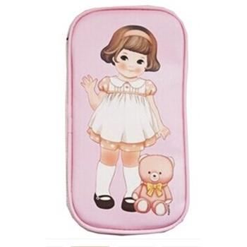 【韩国302】韩国款创意文具复古可爱洋娃娃笔袋