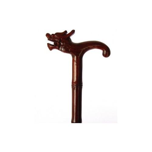 红木手杖龙头拐杖木制拐杖祝寿礼品送老人礼物做工