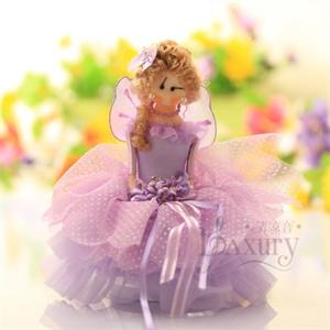 清凉音 紫色婚纱小女孩音乐盒/八音盒/送女友生日礼物创意礼品 七夕情人节礼物