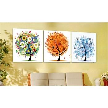 q 现代简约幸福树发财树装饰画无框画