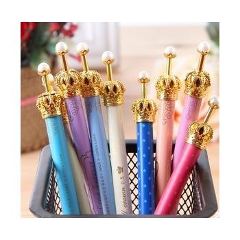 日韩国创意学生文具 可爱小清新皇冠中性笔|自动铅|圆珠笔_自动铅笔