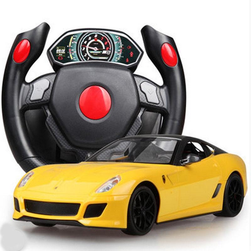大方向盘遥控车充电漂移rc遥控汽车儿童玩具车男孩