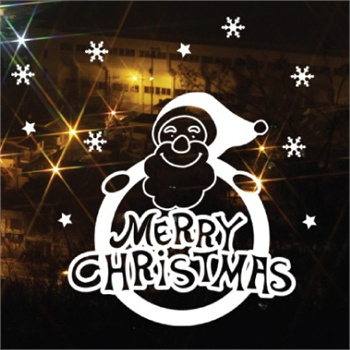 圣诞老人标志 新饰线墙贴纸 可移除节日客厅儿童贴画