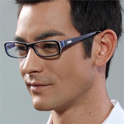 亿超板材眼镜架 男 黑框眼镜