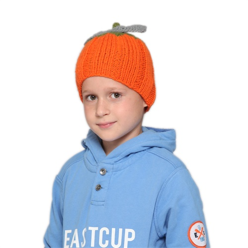 可爱宝宝南瓜帽子 新品kenmont冬季男童女童毛线帽帽
