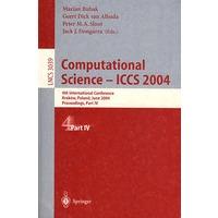 Computational Science - ICCS 2004计算科学――ICCS 2004 第IV部分价格比较