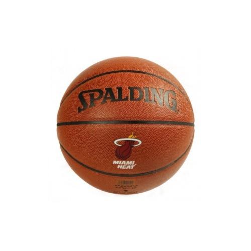 ING斯伯丁 NBA热火队徽篮球 74 098 送气筒 气针 网兜图片