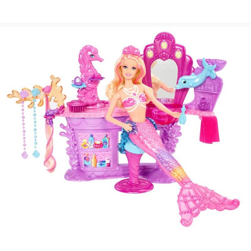 Barbie 芭比 珍珠公主之美发沙龙 女孩娃娃玩具 bhm95